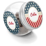 Stars and Stripes Puppy Treat Jar (Personalized)