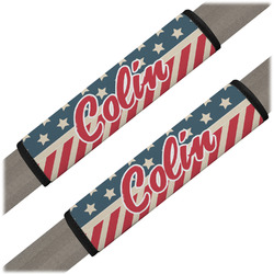 Stars and Stripes Seat Belt Covers (Set of 2) (Personalized)