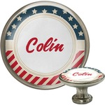 Stars and Stripes Cabinet Knob (Silver) (Personalized)
