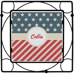 Stars and Stripes Square Trivet (Personalized)