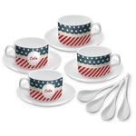 Stars and Stripes Tea Cup - Set of 4 (Personalized)