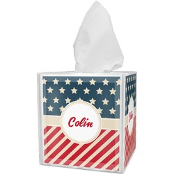 Stars and Stripes Tissue Box Cover (Personalized)