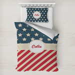 Stars and Stripes Toddler Bedding w/ Name or Text