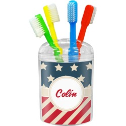 Stars and Stripes Toothbrush Holder (Personalized)