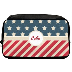 Stars and Stripes Toiletry Bag / Dopp Kit (Personalized)