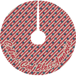 Stars and Stripes Tree Skirt (Personalized)