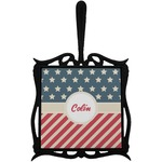 Stars and Stripes Trivet with Handle (Personalized)