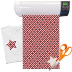 Stars and Stripes Heat Transfer Vinyl Sheet (12