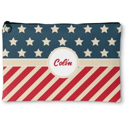 """Stars and Stripes Zipper Pouch - Small - 8.5""""x6"""" (Personalized)"""