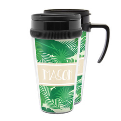 Tropical Leaves #2 Acrylic Travel Mugs (Personalized)