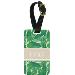 Tropical Leaves 2 Aluminum Luggage Tag (Personalized)