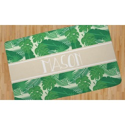 Tropical Leaves #2 Area Rug (Personalized)
