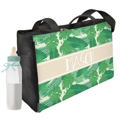Tropical Leaves 2 Diaper Bag (Personalized)