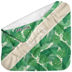 Tropical Leaves 2 Baby Hooded Towel (Personalized)