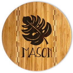 Tropical Leaves #2 Bamboo Cutting Board (Personalized)