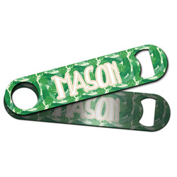 Tropical Leaves #2 Bar Bottle Opener w/ Name or Text
