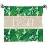 Tropical Leaves #2 Bath Towel w/ Name or Text