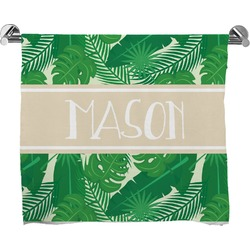 Tropical Leaves 2 Bath Towel (Personalized)