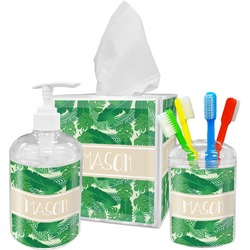 Tropical Leaves 2 Bathroom Accessories Set (Personalized)