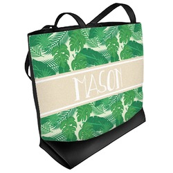 Tropical Leaves 2 Beach Tote Bag (Personalized)