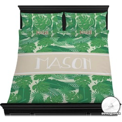 Tropical Leaves 2 Duvet Cover Set (Personalized)