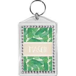 Tropical Leaves 2 Bling Keychain (Personalized)