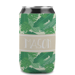 Tropical Leaves #2 Can Sleeve (12 oz) w/ Name or Text