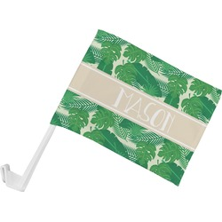 Tropical Leaves 2 Car Flag (Personalized)
