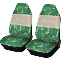 Tropical Leaves 2 Car Seat Covers (Set of Two) (Personalized)
