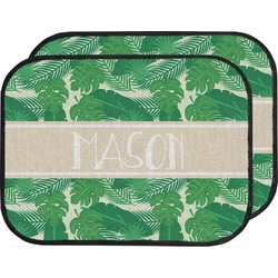 Tropical Leaves 2 Car Floor Mats (Back Seat) (Personalized)