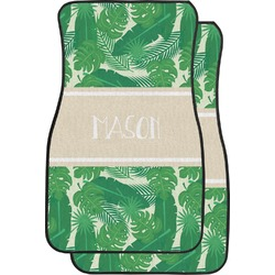 Tropical Leaves 2 Car Floor Mats (Front Seat) (Personalized)