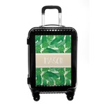 Tropical Leaves #2 Carry On Hard Shell Suitcase w/ Name or Text