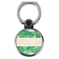 Tropical Leaves #2 Cell Phone Ring Stand & Holder (Personalized)