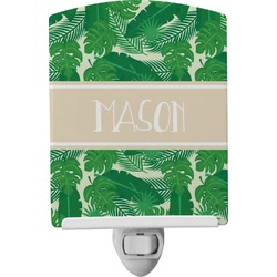 Tropical Leaves 2 Ceramic Night Light (Personalized)