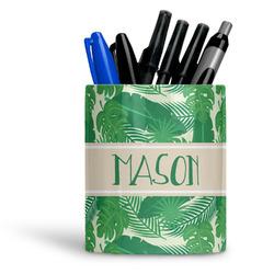 Tropical Leaves #2 Ceramic Pen Holder