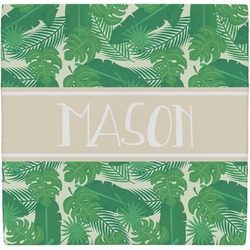 Tropical Leaves 2 Ceramic Tile Hot Pad (Personalized)