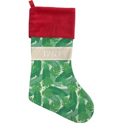 Tropical Leaves 2 Christmas Stocking (Personalized)
