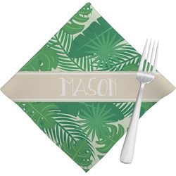 Tropical Leaves 2 Napkins (Set of 4) (Personalized)