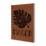 Tropical Leaves 2 Leatherette Journal (Personalized)