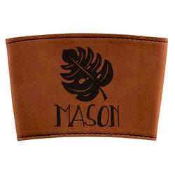 Tropical Leaves 2 Leatherette Mug Sleeve (Personalized)