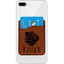 Tropical Leaves #2 Leatherette Phone Wallet (Personalized)