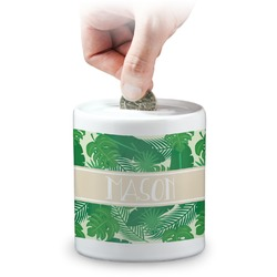 Tropical Leaves 2 Coin Bank (Personalized)