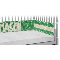 Tropical Leaves #2 Crib Bumper Pads w/ Name or Text
