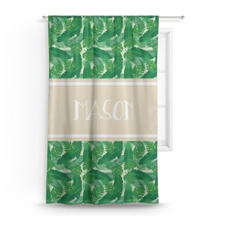 Tropical Leaves 2 Curtain (Personalized)