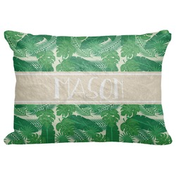 "Tropical Leaves 2 Decorative Baby Pillowcase - 16""x12"" (Personalized)"