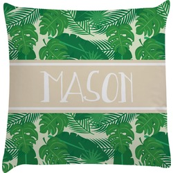 Tropical Leaves 2 Decorative Pillow Case (Personalized)