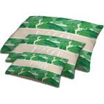 Tropical Leaves #2 Dog Bed w/ Name or Text