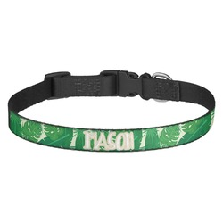 Tropical Leaves 2 Dog Collar - Medium (Personalized)