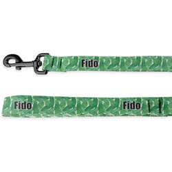 Tropical Leaves 2 Deluxe Dog Leash (Personalized)