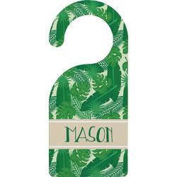 Tropical Leaves 2 Door Hanger (Personalized)